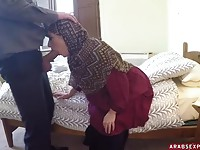 Hijab hottie getting fucked hard